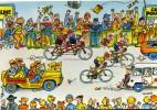 """CYCLISME  """" TOUR DE FRANCE 1984  / BANANIA  """" ETAPE N° 5  """" ILLUSTREE PAR GUERRIER  CPSM / CPM  10 X 15   TTBE - Illustrateurs & Photographes"""