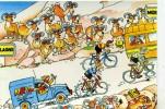 """CYCLISME  """" TOUR DE FRANCE 1984  / BANANIA  """" ETAPE N° 19  """" ILLUSTREE PAR GUERRIER  CPSM / CPM  10 X 15   TTBE - Illustrateurs & Photographes"""