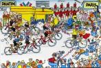 """CYCLISME  """" TOUR DE FRANCE 1984  / BANANIA  """" ETAPE N° 23  """" ILLUSTREE PAR GUERRIER  CPSM / CPM  10 X 15   TTBE - Otros Ilustradores"""