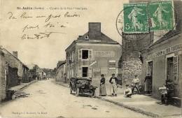 St AUBIN.  Centre De La Rue Principale.  Café Du Chemin De Fer. - Zonder Classificatie