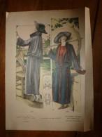 1922 Grande Gravure De Mode Le Cachet De Paris (Marcel Pannetier,Chantraine-Epinal):1561 Chez Gabriel,1562 Chez Francis - Litografia