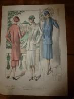1922 Grande Gravure De Mode (Tailleurs Très Variés D'Allure)    PARIS-MODE ,29 Rue De La Sourdière - Litografia