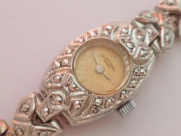 VINTAGE ! 50s' Favre-Leuba Silver Tone Winding Swiss Lady Cocktail Watch - Watches: Old