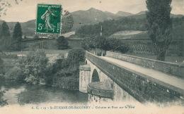 SAINT ETIENNE DE BAIGORRY - Calvaire Et Pont Sur La Nive - Saint Etienne De Baigorry