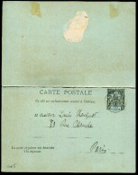 COTE D´IVOIRE - CPRP 10c NOIR OBL. POUR PARIS - B - Ivory Coast (1892-1944)