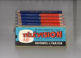 BOITE DE 5 CRAYONS HEXAG0NAUX BI COLOR + COULEUR  BAIGNOL & FARJON 619 Télévision - Autres