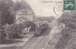 CARTE POSTALE MONTAUBAN GARE TRAIN CHEMIN DE FER - Montauban