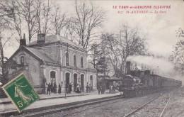 CARTE POSTALE SAINT ANTONIN GARE TRAIN CHEMIN DE FER - Saint Antonin Noble Val