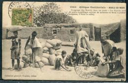 COTE D´IVOIRE - N° 13 / CPA , COMPTAGE DES KAWRIS DANS UN POSTE , OBL. GRAND-BASSAM LE 12/10/1915 , PAS CIRCULÉE - TB - Côte-d'Ivoire (1892-1944)