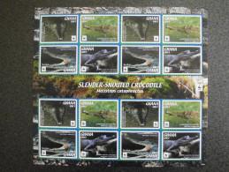 Ghana 2016 - WWF Slender-Snouted Crocodile - Complete Sheet 16 Stamps - Non Classés