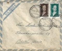 Airmail Brief  San Pipo Misiones - Basel             1953 - Briefe U. Dokumente