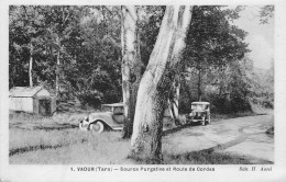 81-VAOUR- SOURCE PURGATIVE ET ROUTE DE CORDES - Vaour