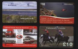 Falkland Islands - 4 Different Prepaid Cards