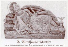 San Marco In Lamis, FG - Santino SAN BONIFACIO MARTIRE - PERFETTO M89 - Religion & Esotericism