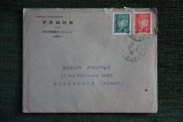 Enveloppe Timbrée Publicitaire Avec Lettre - OLONZAC , FABRE, VINS. - Lettres & Documents