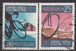 1190 Italia 1968 Roma Imola Campionati Mondiali Di Ciclismo - Viaggiato Used - Full Set - Ciclismo
