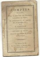 RARE . 1810 .TABLEAU CONVERSION LIVRE TOURNOI EN FRANCS . 20 PAGES - Livres & Logiciels