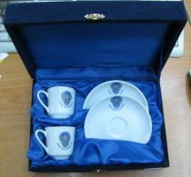 AC - AMASYA POLICE DEPARTMENT COFFEE CUP & SAUCER IN GIFT BOX FROM TURKEY - Cups