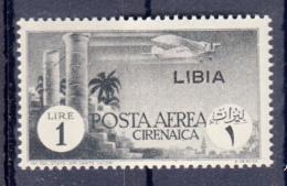 EX COLONIE / LIBIA 1941 - POSTA AEREA - FRANCOBOLLO CIRENAICA SOPRASTAMPATO - NUOVO / MNH**   SX328 - Libia