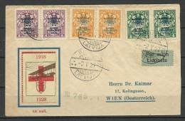 LETTLAND Latvia 1927 Deruluft Cover Sent To Austria - Latvia