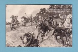 France, MILITAIRE 14-18, SOLDATS Français Attaqué Par La Cavalerie Allemande Devant Noyon // Circulée En 1916 - Guerra 1914-18