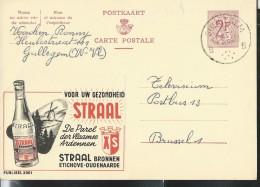 Publibel Obl. N° 2001 ( Eau Minéral STRAAL, Moulin, Sapin; Oudenaarde) Obl: Gullegem - Stamped Stationery