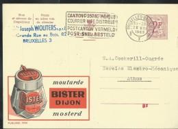 Publibel Obl. N° 1966 ( Moutarde BISTER- Dijon  Mosterd) Obl: Bxl 1963 - Publibels