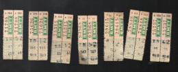 (Toulou, Var) Lot De 14 Tickets De Tramway  RMTT(PPP3677) - Tram