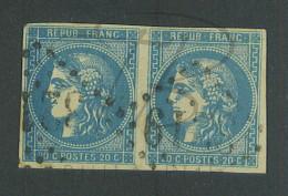VEND BEAUX TIMBRES DE FRANCE N°46B EN PAIRE !!!! - 1870 Bordeaux Printing