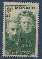 MONACO 1938  40ème  Anniversaire Découverte Du Radium  N° YT 167-168  ** MNH - Neufs
