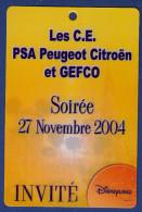 DISNEYLAND Les C.E. PSA Peugeot Citroën Et GEFCO Soirée 27.11.2004, Invité - Frankrijk
