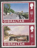Gibraltar. 1971 Decimal Currency. ½p MH Setenant Pair. (Old And New). SG 255-6 - Gibraltar