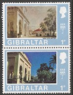 Gibraltar. 1971 Decimal Currency. 1p MH Setenant Pair. (Old And New). SG 257-8 - Gibraltar