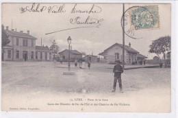 Lure - Place De La Gare - Gares Des Chemins De Fer De L'Est Et Des Chemins De Fer Vicinaux - Lure