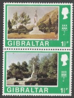 Gibraltar. 1971 Decimal Currency. 1½p MH Setenant Pair. (Old And New). SG 259-60 - Gibraltar