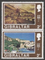 Gibraltar. 1971 Decimal Currency. 2p MH Setenant Pair. (Old And New). SG 317-318 - Gibraltar