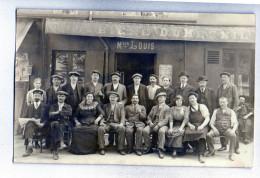 CARTE PHOTO - Café Maison LOUIS - Bières Dumesnil - Cafés