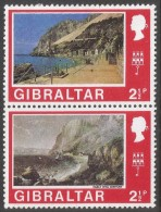 Gibraltar. 1971 Decimal Currency. 2½p MH Setenant Pair. (Old And New). SG 263a-264 - Gibraltar