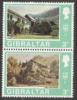 Gibraltar. 1971 Decimal Currency. 3p MH Setenant Pair. (Old And New). SG 265-266 - Gibraltar