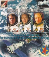2011 Central African  Stamp USSR  Astronaut Soyuz-10  MS II - Africa