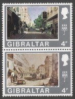 Gibraltar. 1971 Decimal Currency. 4p MH Setenant Pair. (Old And New). SG 319-320 - Gibraltar