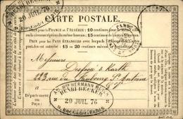 FRANCE – Carte Précurseur  – Détaillons Collection – Bien Regarder – A Voir – Lot N° 18304 - 1849-1876: Période Classique