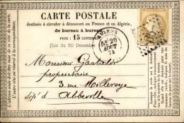 FRANCE – Carte Précurseur  – Détaillons Collection – Bien Regarder – A Voir – Lot N° 18307 - 1849-1876: Période Classique