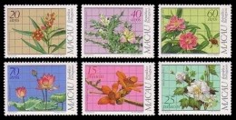 (029) Macau  Flora / Flowers / Fleurs / Blumen / Medical Plants / 1983  ** / Mnh  Michel 505-10 - 1999-... Sonderverwaltungszone Der China