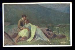 J. Edelmann - Bonheu Placide / Postcard Circulated, 2 Scans - Künstlerkarten