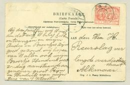 Nederland - 1907 - 2,5 Cent Michiel De Ruyter Op Ansicht Groet Uit Middelburg Naar Alkmaar - Periode 1891-1948 (Wilhelmina)