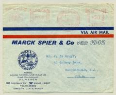 Nederland - 1963 - Roodfrankering / Meter Marck Spier & Co (F1872) Op Brief Naar Bergenfield / USA - Briefe U. Dokumente