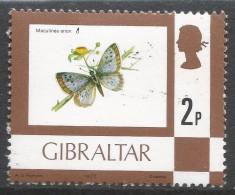 Gibraltar. 1977 Birds, Flowers, Fish And Butterflies. 2p MH. SG 376 - Gibraltar