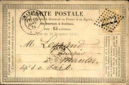 FRANCE – Carte Précurseur  – Détaillons Collection – Bien Regarder – A Voir – Lot N° 18322 - 1849-1876: Période Classique