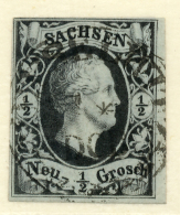 GERMAN STATES - SACHSEN / SAXONY - 1851 - Mi 3 - Saxony